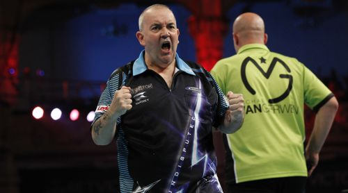 Phil Taylor besiegt Michael van Gerwen bei der Unibet Championship League of Darts