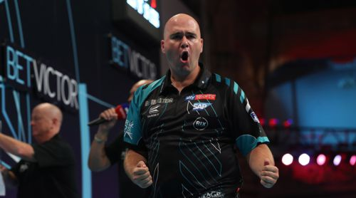 Weltmeister Rob Cross beim World Matchplay