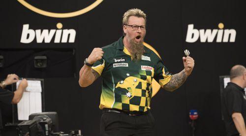 Simon Whitlock rechnet sich Chancen auf den Turniersieg aus
