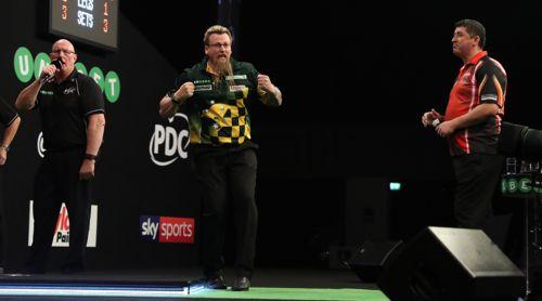 Simon Whitlock zieht zum ersten Mal seit 2012 in das Endspiel eines Major-Turnieres ein