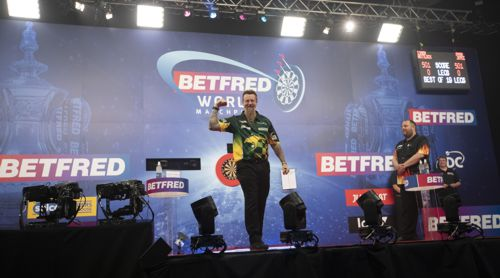 Simon Whitlock beim ersten World Matchplay ohne Zuschauer