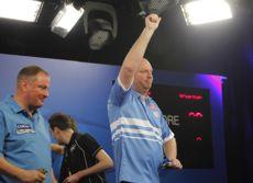 Vincent van der Voort hatte mit Andy Jenkins bei den UK Open keinerlei Probleme