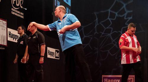 Vincent van der Voort - hier auf der European Tour gegen den Deutschen Nico Blum