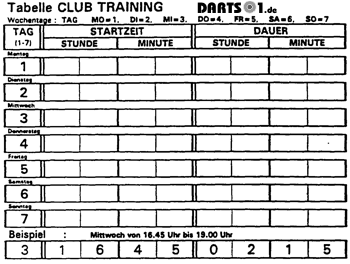 Club Training Dartautomat