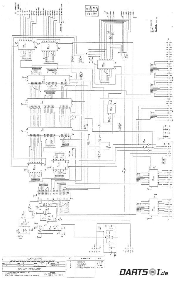 CPU with Regulator des Löwen Dartautomat 1989