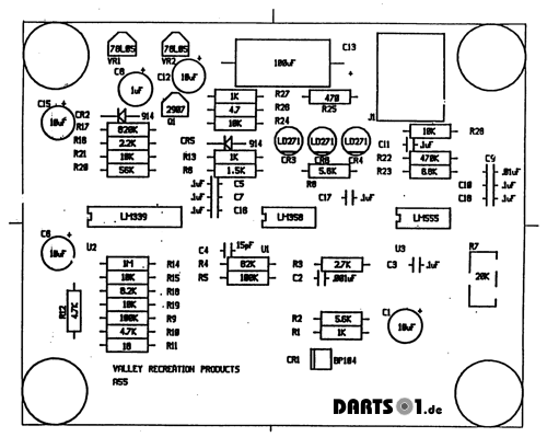 Bestückungsplan Infrarot Sensor