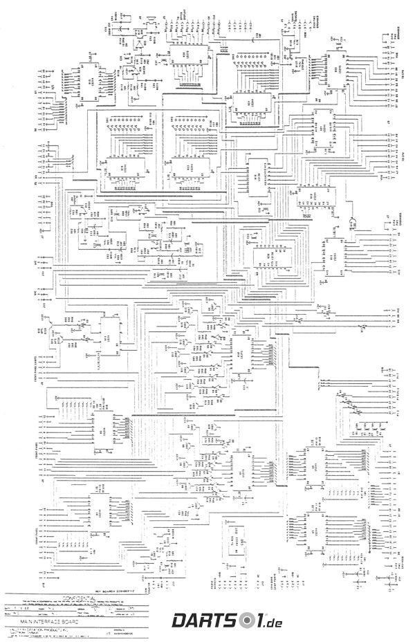 Main Interface Board des Löwen Dartautomat 1989