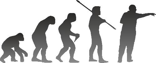 Dartspieler Evolution
