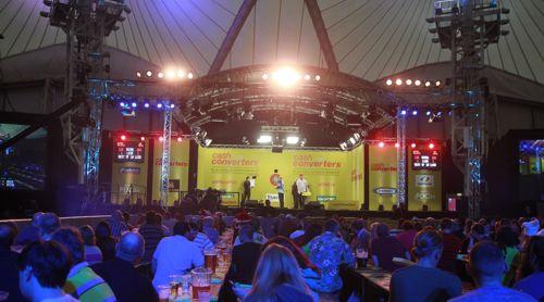 Die Bühne beim Players Championship Finalturnier