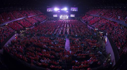Die Ahoy Arena in Rotterdam war bis auf den letzten Platz gefüllt