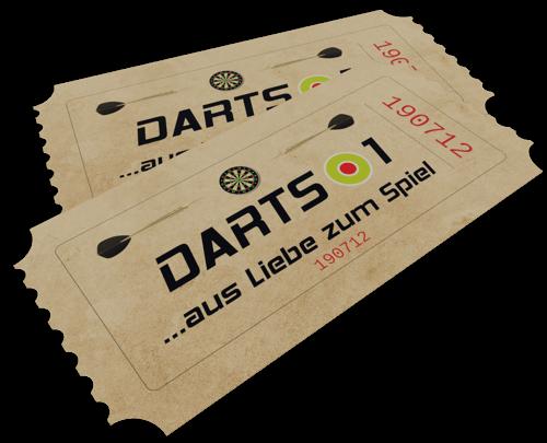 Eintrittskarten Darts