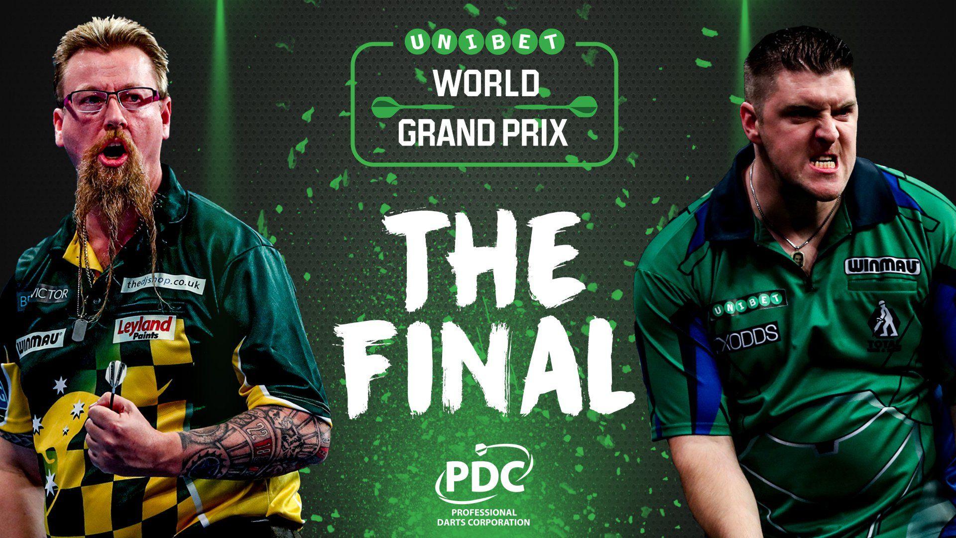 Daryl Gurney und Simon Whitlock bestreiten das Finale des World Grand Prix 2017