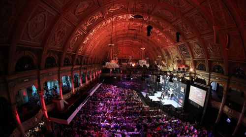 Der Emperess Ballroom in den Winter Gardens von Blackpool ist Austragungsort des PDC World Matchplay