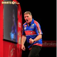 John Bowles bei der World Darts Championship 2013