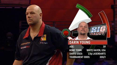 Darin Young sorgte für die größte Überraschung in der Gruppenphase des Grand Slam of Darts