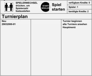 Dartautomaten Turnierplan