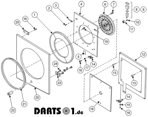 Dartscheibe Turnierdart 2000