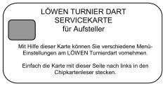 Löwen Servicekarte