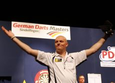Mickey Mansell beim German Darts Masters 2012