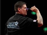 Gary Anderson zielt