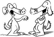 Schweinehunde im Gespräch