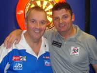 Justin Pipe und Phil Taylor